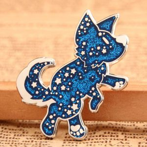Shiny Dog Custom Enamel Pins