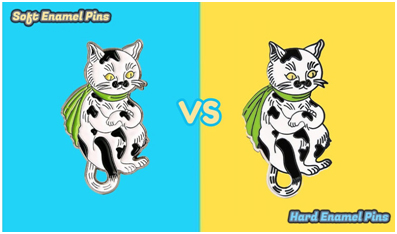 Soft enamel vs hard enamel pins