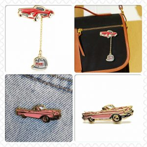 Convertible Car Soft Enamel Pins