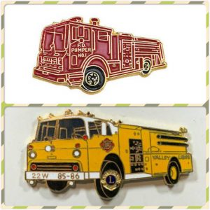 Firefighter Car Custom Enamel Pins
