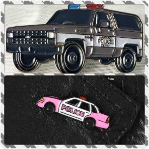Police Car Enamel Pins