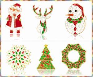 Christmas Enamel Pins