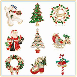 Christmas Metal Pins