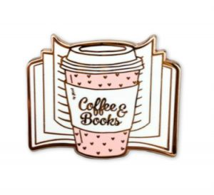 Coffee and Book Enamel Pin