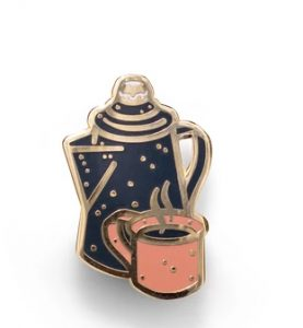 Coffeepot Custom Enamel Pin