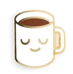 Emoticon Coffee Enamel Pin