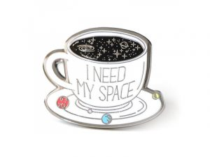 My Space Coffee Enamel Lapel Pin