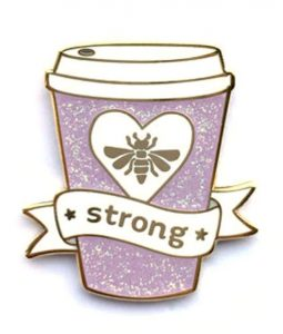 Purple Cup Coffee Enamel Lapel Pin
