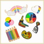 Rainbow Painting Soft Enamel Pins