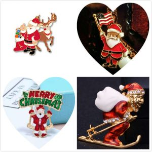 Santa Claus Custom Enamel Pins