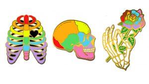 Skeleton Hard Enamel Pins
