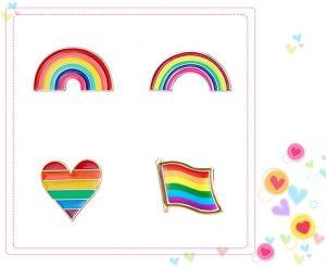 Various Rainbow Custom Enamel Pins