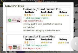 Select pin style