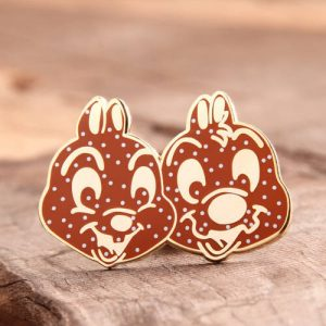 Double Rabbit Enamel Pins