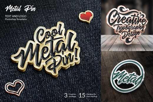 metal pin mockup
